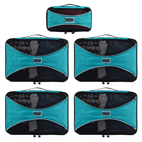 PRO Packing Cubes 5 Piece Travel Cube Value Set Review