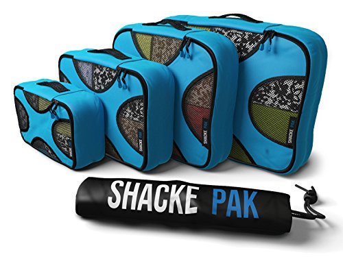 Shacke Pak – 4 Set Packing Cubes – Travel Organizers with Laundry Bag Review